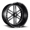 FF33 - 6 Lug Black & Milled