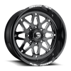 FF34-8 Gloss Black & Milled