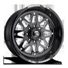 FF34 - 8 Lug 22x10   Gloss Black & Milled