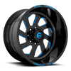 FF39 - 8 Lug Gloss Black w/ Blue Accents