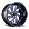 FF41 - 5 Lug Gloss Black w/Lollipop Blue