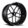 FF45-5 Lug Gloss Black w/ White Windows