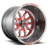 FF45-5 Lug Gloss Brushed DDT w/ Red Windows