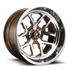FF45 - 5 Lug | Concave Trans Brown over Polish w/ Polished Windows