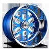 FF45 - 6 Lug Candy Blue w/ Polish Windows