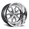 FF45-5 Lug Brushed Face w/ Anthracite Windows / Polished Lip