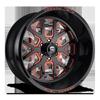 FF45-6 Lug Gloss Black | Inferno Orange