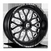 FF45 - 8 Lug Gloss Black and White