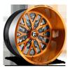 FF45 - 8 Lug Brushed Candy Copper w/ Black Windows