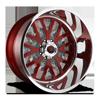 FF45 - 8 Lug Ruby Red w/ Anthracite Windows