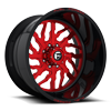 FF51 - 8 Lug Candy Red w/ Gloss Black Lip