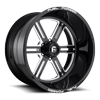 FF54 - 6 Lug Gloss Black & Milled