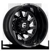 FF65D - Rear Gloss Black & Milled