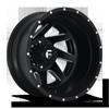 FF65D - Rear Matte Black & Milled