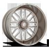 FF66 - 8 Lug Pale Adobe w/ White