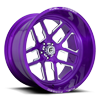 FFC45 - 5 Lug   Concave Candy Purple & Milled