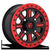 Hardline - D911 Beadlock (Lightweight Ring) Gloss Black w/ Candy Red