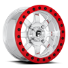 Trophy - D105 Beadlock Polished w/ Red Beadlock