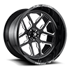 FF45 - 5 Lug | Concave Gloss Black & Milled
