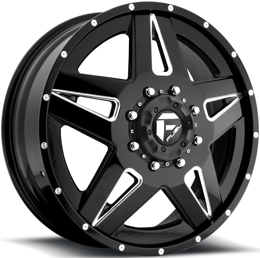 Full Blown Dually Front D254 Fuel Off Road Wheels