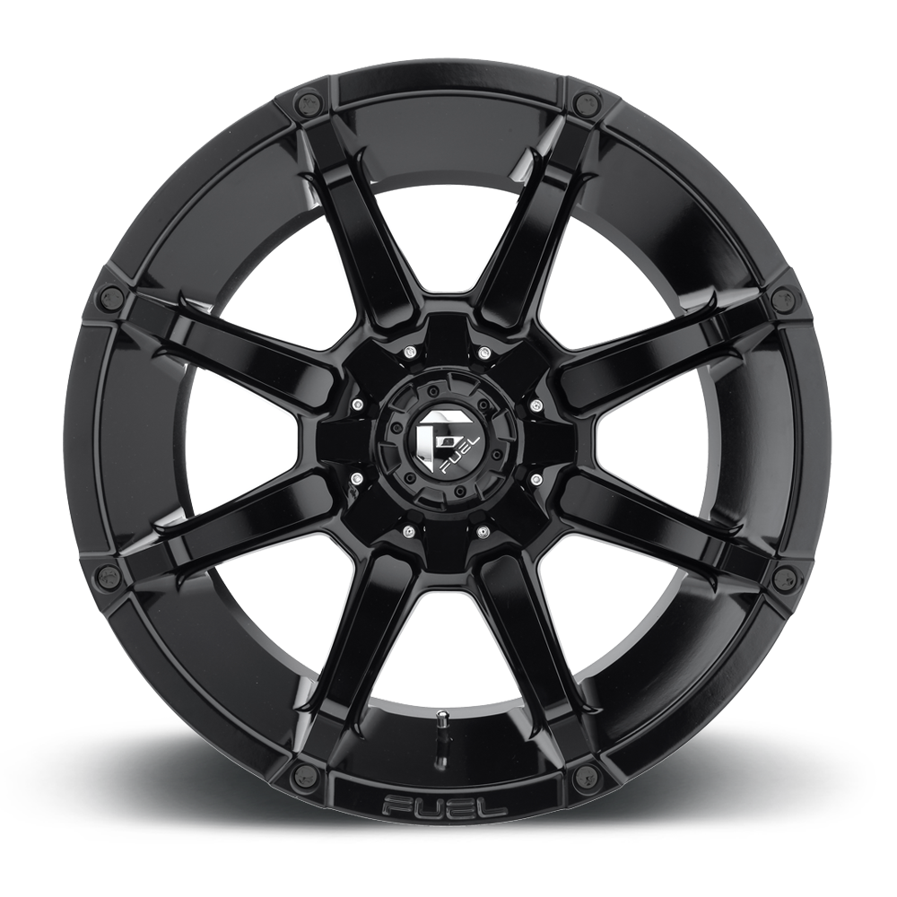 Fuel D575 Coupler 22x12 6x135//6x139.7-44mm Gloss Black Wheel Rim